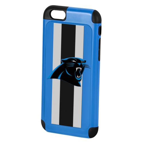 Made for Apple iPhone 6/6S (4.7 inch) NFL Case, Slim Dual layer Hybrid Hard Case on TPU Case [Carolina Panthers] by NFL