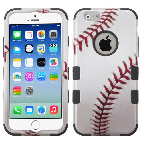 Apple iPhone 6/6S (4.7 inch) Case, TUFF Hybrid Dual Layer Hard Case on Silicone Skin [Baseball]