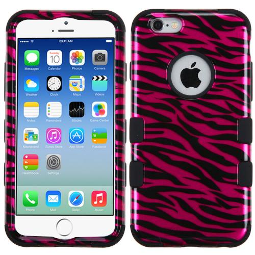 Made for Apple iPhone 6/6S (4.7 inch) Case, TUFF Hybrid Dual Layer Hard Case on Silicone Skin [Hot Pink Zebra] by Redshield