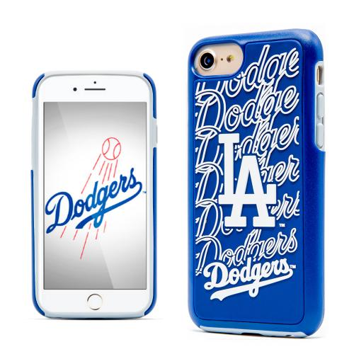Apple iPhone 8 / 7 / 6S / 6 MLB Case, Slim Dual layer Hybrid Hard Case on TPU Case [Los Angeles Dodgers]