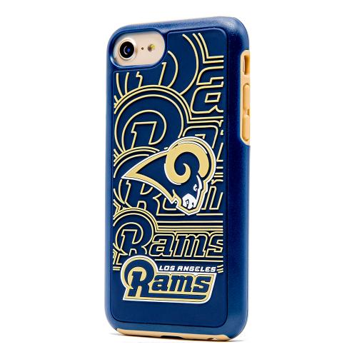 Made for Apple iPhone 8 / 7 / 6S / 6 NFL Case, Slim Dual layer Hybrid Hard Case on TPU Case [Los Angeles Rams] by NFL