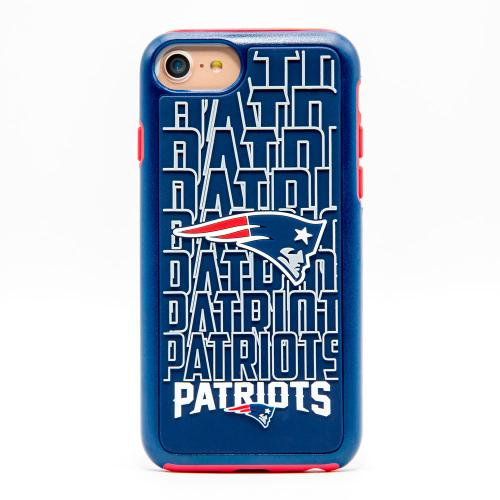 Made for Apple iPhone 8 / 7 / 6S / 6 NFL Case, Slim Dual layer Hybrid Hard Case on TPU Case [New England Patriots] by NFL