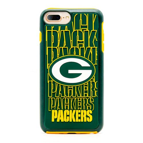 Apple iPhone 8 Plus / 7 Plus / 6S Plus / 6 Plus NFL Case, Slim Dual layer Hybrid Hard Case on TPU Case [Green Bay Packers]