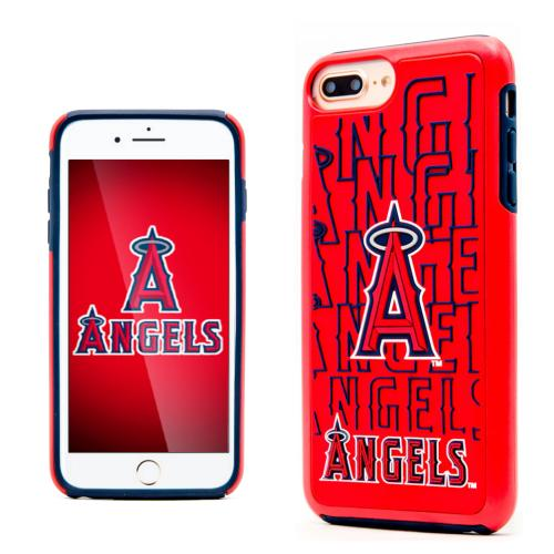 Made for Apple iPhone 8 Plus / 7 Plus / 6S Plus / 6 Plus MLB Case, Slim Dual layer Hybrid Hard Case on TPU Case [Los Angeles Angels] by MLB