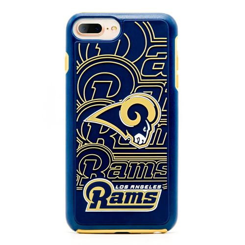 Made for Apple iPhone 8 Plus / 7 Plus / 6S Plus / 6 Plus NFL Case, Slim Dual layer Hybrid Hard Case on TPU Case [Los Angeles Rams] by NFL