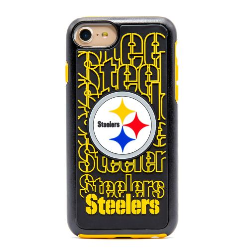 Apple iPhone 8 / 7 / 6S / 6 NFL Case, Slim Dual layer Hybrid Hard Case on TPU Case [Pittsburgh Steelers]