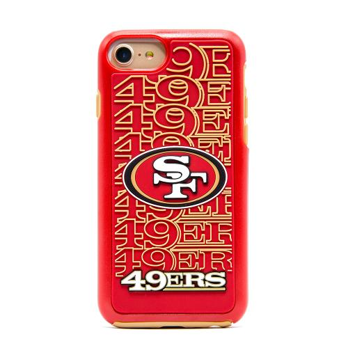 Made for Apple iPhone 8 / 7 / 6S / 6 NFL Case, Slim Dual layer Hybrid Hard Case on TPU Case [San Francisco 49ers] by NFL