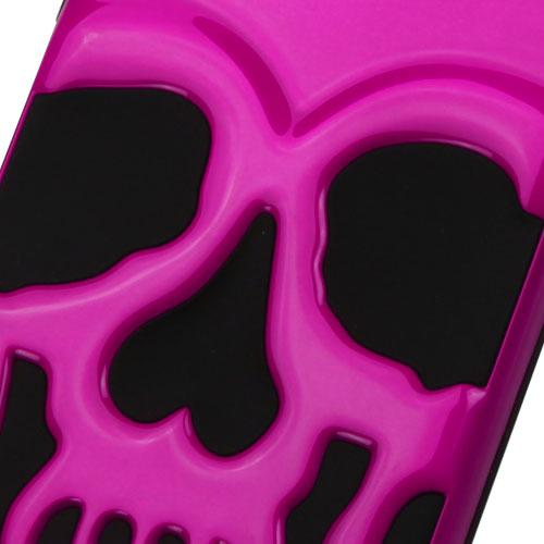 Made for Apple iPhone 8/7/6S/6 Case, Skull Hybrid Dual Layer Hard Case on Silicone Skin [Hot Pink] with Travel Wallet Phone Stand by Redshield