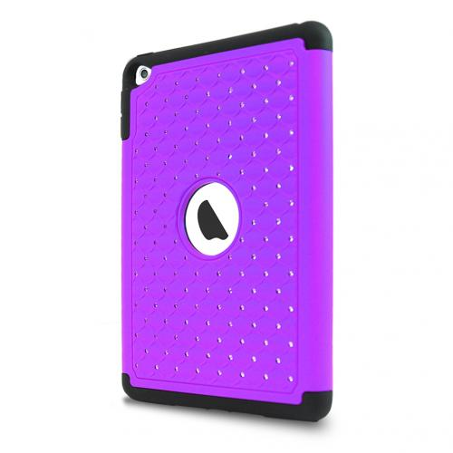 Made for Apple iPad Mini 4 Case, [Purple Bling] Supreme Protection Bling Plastic on Silicone Dual Layer Hybrid Case by Redshield