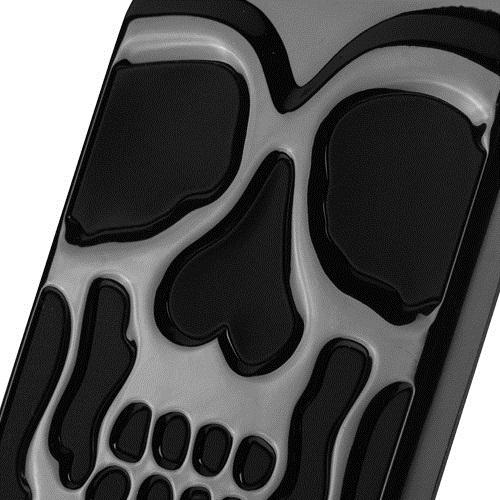Made for [Apple iPhone X / XS 2018] Case, [Black] Skull Hybrid Dual Layer Hard Case on Silicone Skin by Redshield