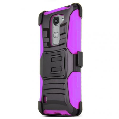 LG Escape 2 (ATT, Cricket) Holster Case, REDshield [HOT PINK] Supreme Protection Hard Plastic on Silicone Skin Dual Layer Hybrid Case w/ Holster
