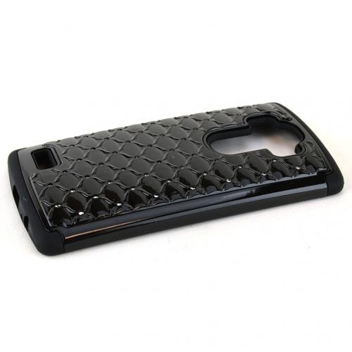 LG G4 Case, [Black] Hard Plastic on Silicone Dual Layer Hybrid Case Cover
