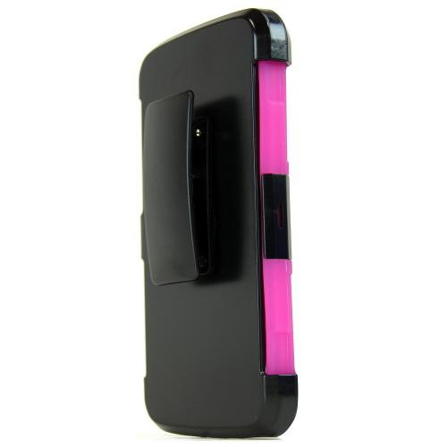 LG K10 Case, REDshield [Hot Pink] Heavy Duty Dual Layer Hybrid Holster Case with Kickstand and Locking Belt Swivel Clip