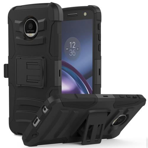 Motorola Moto Z Force Holster Case,  REDshield [Black] Supreme Protection Hard Plastic on Silicone Skin Dual Layer Hybrid Case