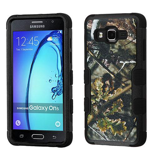 Samsung Galaxy On5 Case, TUFF Hybrid Dual Layer Hard Case on Silicone Skin [English Oak -Hunting Camouflage]
