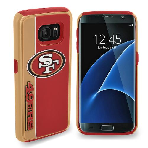 Samsung Galaxy S7 NFL Case, Slim Dual layer Hybrid Hard Case on TPU Case [San Francisco 49ers]