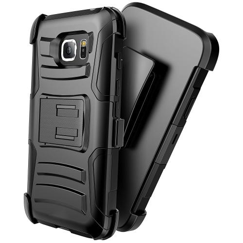 Samsung Galaxy S7 Active Holster Case, REDshield [Black] Supreme Protection Hard Plastic on Silicone Skin Dual Layer Hybrid Case with Travel Wallet Phone Stand