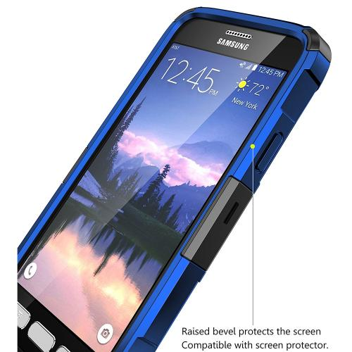 Samsung Galaxy S7 Active Holster Case, REDshield [Blue] Supreme Protection Hard Plastic on Silicone Skin Dual Layer Hybrid Case with Travel Wallet Phone Stand