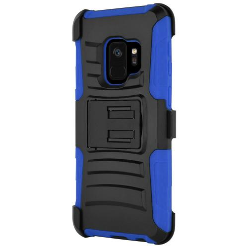 [SAMSUNG GALAXY S9] Holster Case, REDshield [Blue/Black] Supreme Protection Hard Plastic on Silicone Skin Dual Layer Hybrid Case