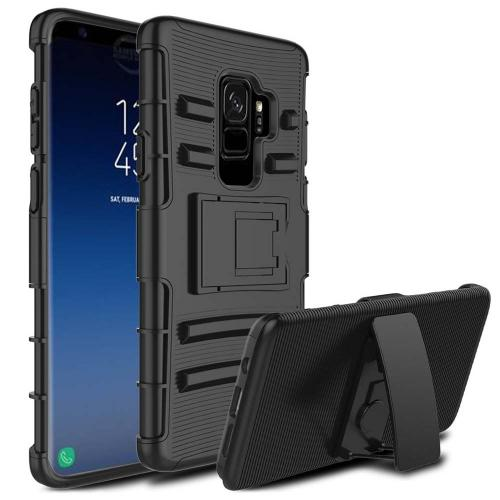 [Samsung Galaxy S9 PLUS] Holster Case, REDshield [Black] Supreme Protection Hard Plastic on Silicone Skin Dual Layer Hybrid Case