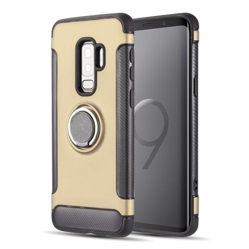 [Samsung Galaxy S9 PLUS] Redshield Carbon Edge Sports Hybrid Case with Circo Magstand [Gold]