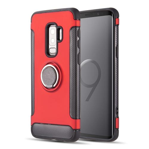 [Samsung Galaxy S9 PLUS] Redshield Carbon Edge Sports Hybrid Case with Circo Magstand [Red]