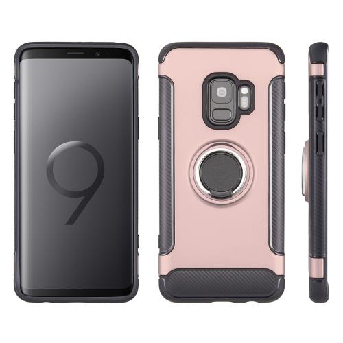 [Samsung Galaxy S9] Redshield Carbon Edge Sports Hybrid Case with Circo Magstand [Rose Gold]