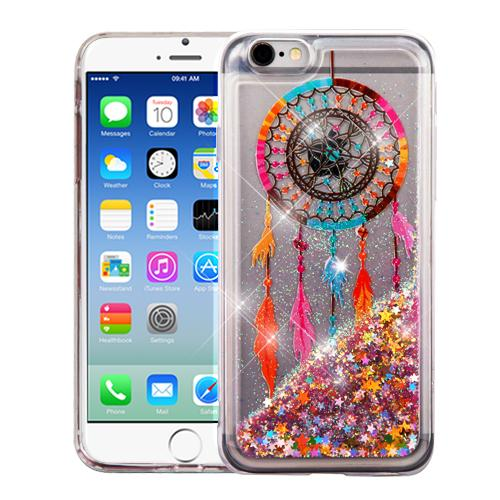 Made for Apple iPhone 6 / 6S Case, Slim Crystal Back Bumper Case [Drop Protection] [Dreamcatcher Gold Stars] Quicksand Glitter Flexible Border Case by Redshield