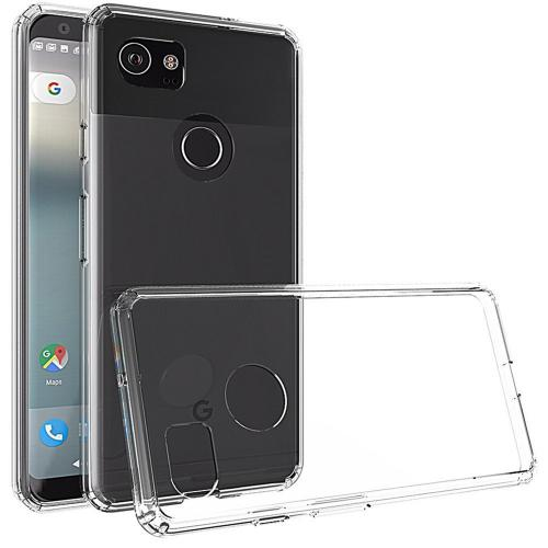 [REDshield] Google Pixel XL 2 Crystal Back Case, [Clear] Fusion Candy Bumper Case [Drop Protection] Flexible Border