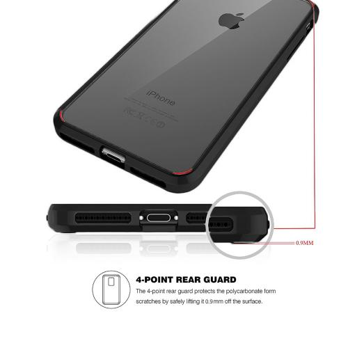Made for [Apple iPhone X / XS 2018] Crystal Back Case, [Black Clear] Fusion Candy Bumper Case [Drop Protection] Flexible Border by Redshield