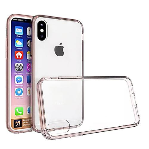Made for [Apple iPhone X / XS 2018] Crystal Back Case, [Baby Pink Clear] Fusion Candy Bumper Case [Drop Protection] Flexible Border by Redshield
