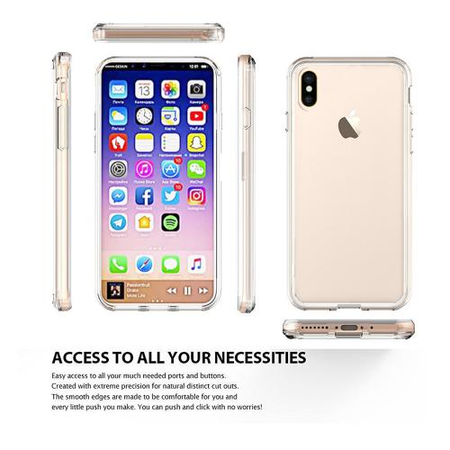 Made for [Apple iPhone X / XS 2018] Crystal Back Case, [Clear] Fusion Candy Bumper Case [Drop Protection] Flexible Border by Redshield