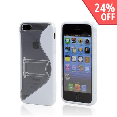 Made for Apple iPhone SE / 5 / 5S  Case,  [White/ Frost White]  Hard Back w/ Crystal Silicone Lining Kickstand by Redshield
