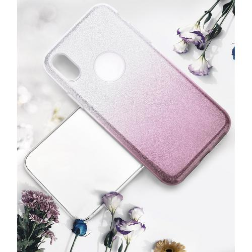 Made for [Apple iPhone X / XS 2018] Crystal Back Case, [Smoke] Two Tone Glitter Hybrid Candy Case [Fashionable Protection] Flexible Plastic TPU Cover by Redshield