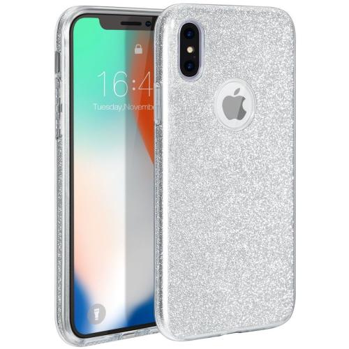 cf8e0cc89c Made for [Apple iPhone X / XS 2018] Crystal Back Case, [Silver] Glitter  Hybrid Candy Case [Fashionable Protection] Flexible Plastic TPU Cover by  Redshield
