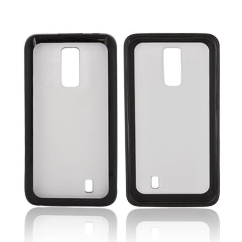 LG Spectrum Hard Back w/ Gummy Silicone Border - Black/ Frost White