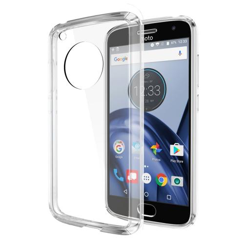 Motorola Moto G5 Case, REDshield [Clear] [Drop Protection] Crystal Back TPU Bumper w/ Flexible Border with Travel Wallet Phone Stand