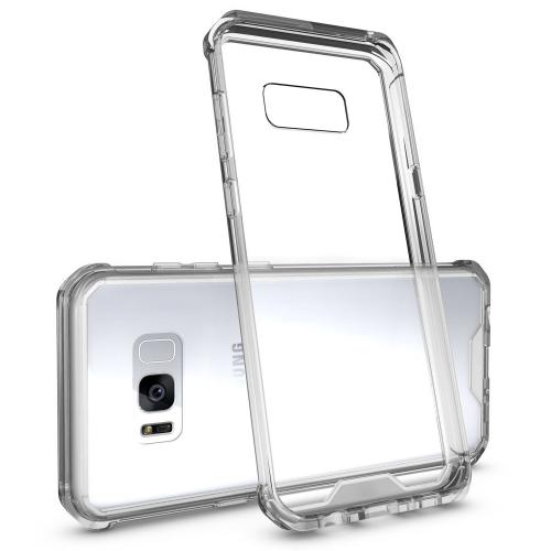 Samsung Galaxy S8 Plus Bumper Case, [RedShield] Crystal Back Bumper Case [Drop Protection] [Clear] Flexible Border Case with Travel Wallet Phone Stand