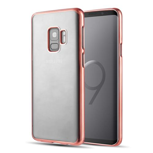 [Samsung Galaxy S9] Redshield Transparent TPU Case with Electroplated Frame [Rose Gold]