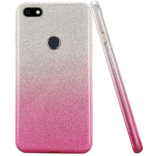 ZTE Blade X Crystal Back Case, [Hot Pink] Two Tone Glitter Hybrid Candy Case [Fashionable Protection] Flexible Plastic TPU Cover