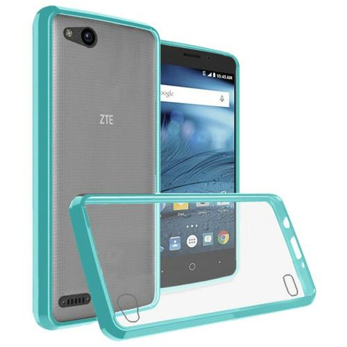 [REDshield] ZTE Tempo X/ Avid 4 Crystal Back Case, [Mint & Clear] Fusion Candy Bumper Case [Drop Protection] Flexible Border