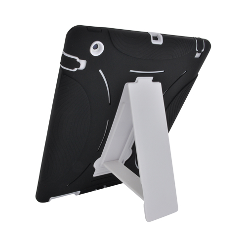 Made for Apple iPad 2/3, Black/ WhiteSilicone Over Hard Case w/ Stand by Redshield