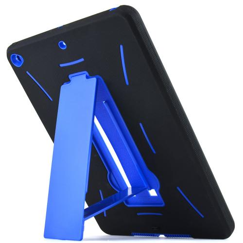 Made for Apple iPad Air 2 Blue/ Black Silicone Skin Case on Hard Cover Case w/ Kickstand by Redshield