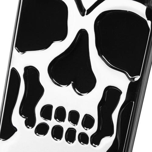 Samsung Galaxy S8 Skull Case, Hybrid Dual Layer Hard Case on Silicone Skin [Silver] with Travel Wallet Phone Stand