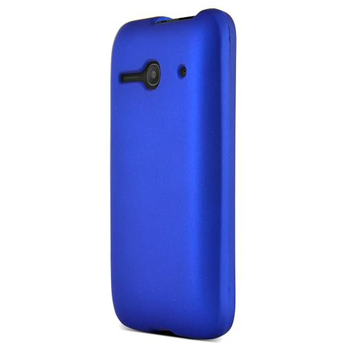 One Touch Evolve 2 Case, [Neon Blue] Slim Grip Rubberized Hard Plastic Case for Alcatel One Touch Evolve 2