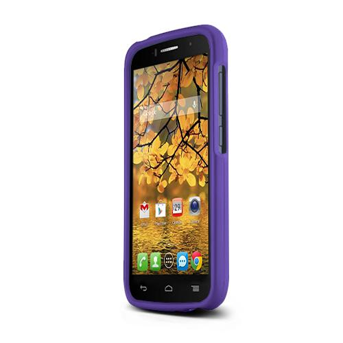 Purple Alcatel One Touch Fierce 2 Matte Rubberized Hard Case Cover; Perfect fit as Best Coolest Design Plastic cases