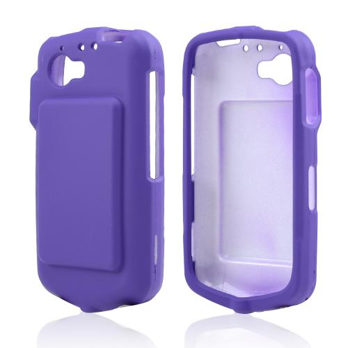 Purple Rubberized Hard Case for Casio G'zOne Commando 4G LTE C811