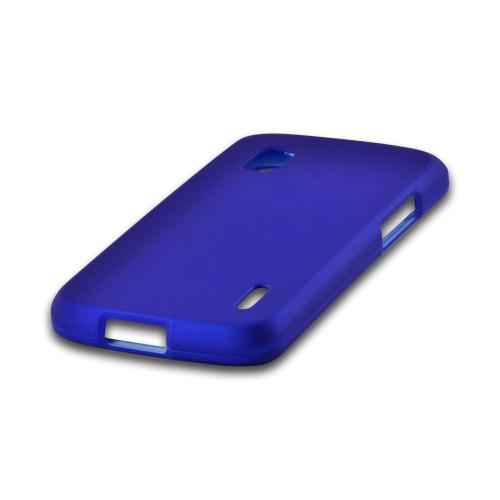 Blue Rubberized Hard Case for LG Nexus 4