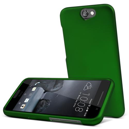 HTC One A9 Case,  [Dark Green]  Slim & Protective Rubberized Matte Finish Snap-on Hard Polycarbonate Plastic Case Cover