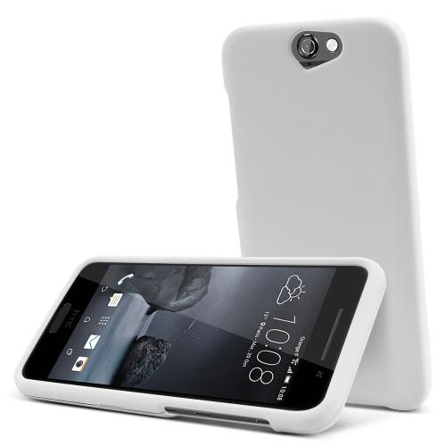 HTC One A9 Case,  [White]  Slim & Protective Rubberized Matte Finish Snap-on Hard Polycarbonate Plastic Case Cover